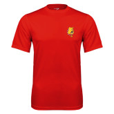 Performance Red Tee-Bulldog Head