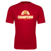 Performance Red Tee-Back-to-Back-to-Back GLIAC Champions Volleyball