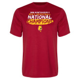 Performance Red Tee-2018 NCAA Mens Basketball National Champions - Brush