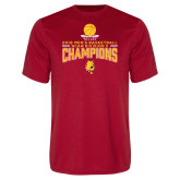 Performance Red Tee-2018 NCAA Mens Basketball National Champions - Stacked