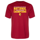 Performance Red Tee-2018 NCAA Mens Basketball National Champions - Bar