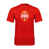 Syntrel Performance Red Tee-Ferris State Football Tall