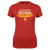 Ladies Syntrel Performance Red Tee-2018 NCAA Mens Basketball National Champions - Brush