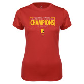Ladies Syntrel Performance Red Tee-2018 NCAA Mens Basketball National Champions - Box