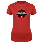 Ladies Syntrel Performance Red Tee-2018 NCAA Mens Basketball National Champions