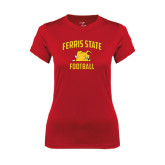 Ladies Syntrel Performance Red Tee-Football