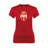 Ladies Syntrel Performance Red Tee-Ferris State Football Tall