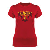 Ladies Syntrel Performance Red Tee-Back-to-Back GLIAC Champions Mens Basketball 15-16