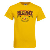 Gold T Shirt-Back-to-Back GLIAC Champions Mens Basketball 15-16