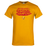 Gold T Shirt-2018 NCAA Mens Basketball National Champions - Brush