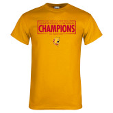 Gold T Shirt-2018 NCAA Mens Basketball National Champions - Box
