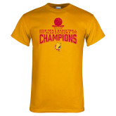 Gold T Shirt-2018 NCAA Mens Basketball National Champions - Stacked