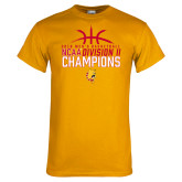Gold T Shirt-2018 NCAA Mens Basketball National Champions - Basketball