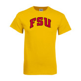 Gold T Shirt-Arched FSU