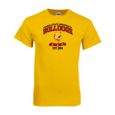 Gold T Shirt-Bulldogs Est. 1884 Arched