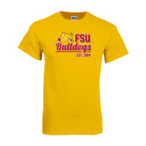 Gold T Shirt-Bulldogs Est. 1884 Stacked