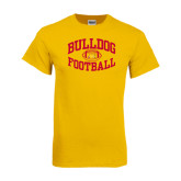 Gold T Shirt-Bulldog Football Arched