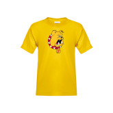Youth Gold T Shirt-Bulldog Head