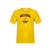 Youth Gold T Shirt-Bulldogs Est. 1884 Arched