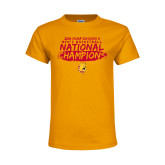 Youth Gold T Shirt-2018 NCAA Mens Basketball National Champions - Brush