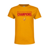 Youth Gold T Shirt-2018 NCAA Mens Basketball National Champions - Box