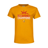 Youth Gold T Shirt-2018 NCAA Mens Basketball National Champions - Basketball