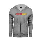 ENZA Ladies Grey Fleece Full Zip Hoodie-#FerrisStrong
