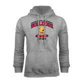 Grey Fleece Hoodie-Bulldogs Est. 1884 Arched