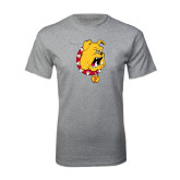 Sport Grey T Shirt-Bulldog Head