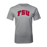 Grey T Shirt-Arched FSU