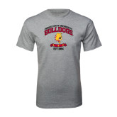 Grey T Shirt-Bulldogs Est. 1884 Arched