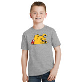 Youth Grey T-Shirt-Bulldog Head Peeking
