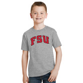 Youth Sport Grey T Shirt-Arched FSU