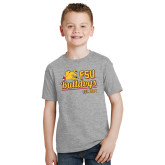 Youth Grey T-Shirt-Bulldogs Est. 1884 Stacked