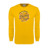 Gold Long Sleeve T Shirt-Bulldog Pride