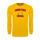 Gold Long Sleeve T Shirt-Football