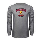 Grey Long Sleeve T Shirt-Bulldogs Est. 1884 Arched