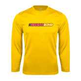 Performance Gold Longsleeve Shirt-#FerrisStrong