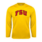 Syntrel Performance Gold Longsleeve Shirt-Arched FSU