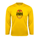 Syntrel Performance Gold Longsleeve Shirt-Ferris State Football Tall