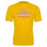 Performance Gold Tee-Back-to-Back-to-Back GLIAC Champions Volleyball