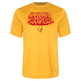 Performance Gold Tee-2018 NCAA Mens Basketball National Champions - Brush