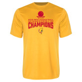 Performance Gold Tee-2018 NCAA Mens Basketball National Champions - Stacked