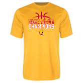 Performance Gold Tee-2018 NCAA Mens Basketball National Champions - Basketball