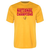 Performance Gold Tee-2018 NCAA Mens Basketball National Champions - Bar