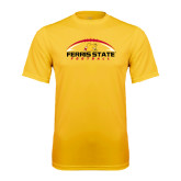 Performance Gold Tee-Ferris State Football Horizontal