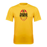 Syntrel Performance Gold Tee-Ferris State Football Tall