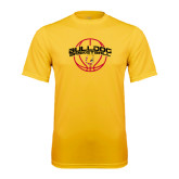 Performance Gold Tee-Basketball Arched w/ Ball