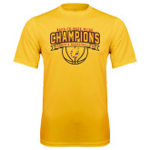 Performance Gold Tee-Back-to-Back GLIAC Champions Mens Basketball 15-16