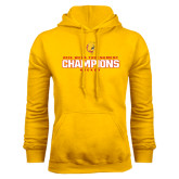 Gold Fleece Hoodie-2016 WCHA Tournament Champions Hockey